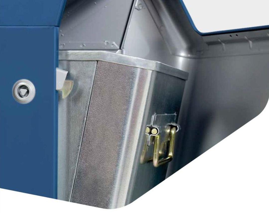 Kapitol Abfallsammler Detailansicht Inneneimer und Verschluss