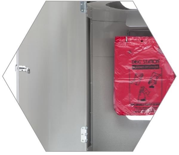 DOGSTATION (R) System-Abfallsammler M5, Detail Innenansicht