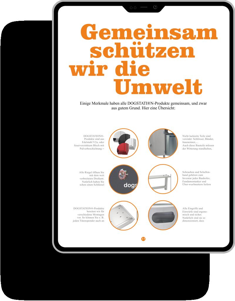 Illustration Tablet mit Online-Preisliste Krüger-Systeme