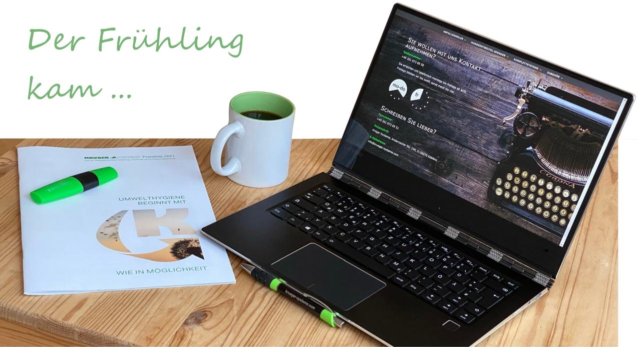 Kaffee, Katalog und Klapprechner